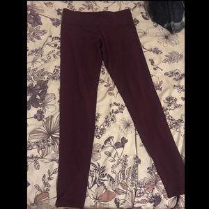 Lululemon berry colored leggings